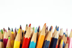 色的铅笔细节 库存图片
