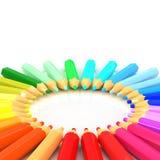 色的铅笔 库存例证