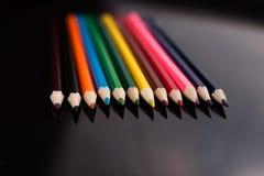 色的铅笔 免版税库存图片