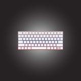 色的键盘传染媒介象  库存图片