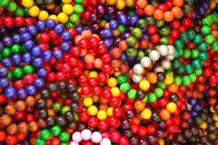 色的镯子混合多 免版税库存照片