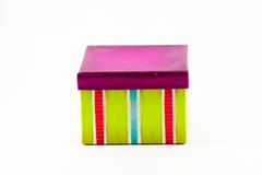 色的镶边礼物盒 图库摄影