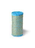 色的镶边被编织的箱子 免版税库存图片