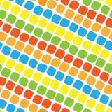 色的长方形的无缝的样式 图库摄影