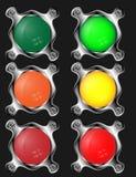 色的闪亮指示 免版税库存照片