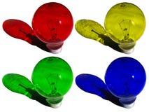 色的闪亮指示 免版税库存图片