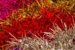 色的闪亮金属片背景  免版税图库摄影