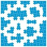 色的难题-弯角和单个动作 库存例证