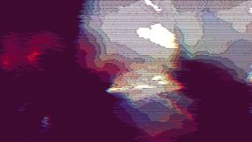 色的霓虹科学幻想小说错误数据动画背景 影视素材