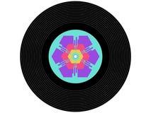 色的音乐唱片 图库摄影