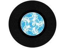 色的音乐唱片 免版税库存图片