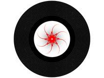 色的音乐唱片 免版税库存照片