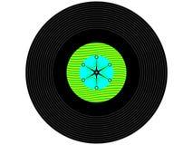 色的音乐唱片 免版税图库摄影