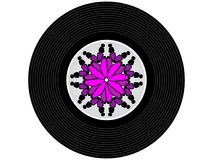 色的音乐唱片 库存图片