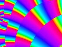 色的风扇 库存照片
