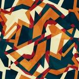 色的马赛克无缝的样式 免版税图库摄影