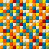 色的马赛克无缝的样式 免版税库存照片