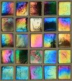 色的马赛克正方形 免版税库存图片