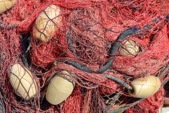 色的鱼网 库存照片