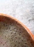 色的鱼食物柠檬卤汁玫瑰色夏天酒 免版税库存图片