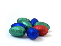 色的鸡蛋 免版税库存图片
