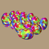 色的鸡蛋 免版税库存照片