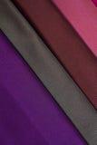 色的织品的片段 免版税库存图片