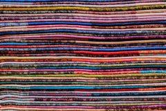 色的织品 库存图片