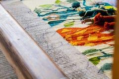 色的织布机 图库摄影