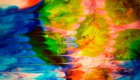 色的水摘要 免版税库存图片