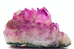 紫色的水晶宝石 库存照片