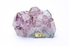紫色的水晶 免版税库存图片