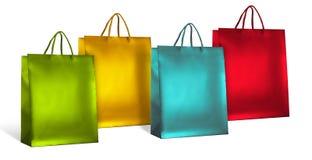 色的购物袋 免版税库存照片