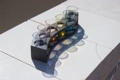 色的玻璃射击 库存图片