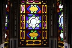 色的玻璃窗 库存照片