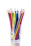 色的玻璃铅笔 免版税库存图片