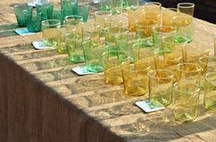 色的玻璃 免版税库存照片