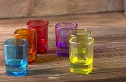 色的玻璃 免版税图库摄影