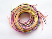 色的绳索螺旋  库存照片