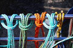 色的绳索 库存图片