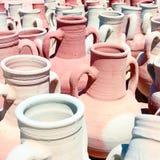 色的amphorae 免版税库存照片