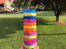 色的cupholders 库存照片