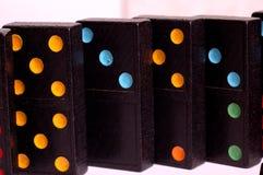 色的Domino瓦片 库存照片