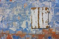色的grunge墙壁 免版税库存照片