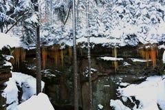 色的icefall 免版税图库摄影