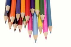 色的pencils 免版税库存照片