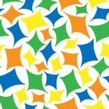色的rhombs的无缝的样式 库存图片