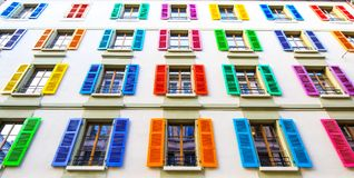 色的Windows 免版税库存照片