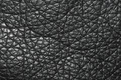 黑色皮革纹理 免版税库存照片