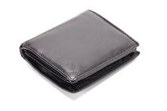 黑色皮革钱包 库存照片